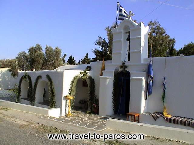 PAROS SMALL CHURCH - In a few hour will begin a local festival.