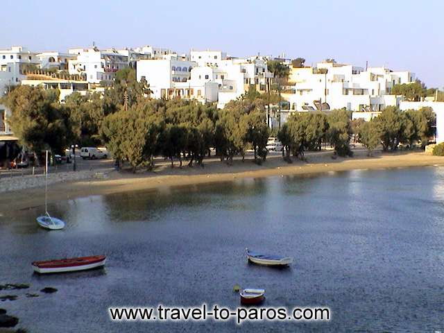 PAROS BEACH AND BOATS - Paros, characterized from her traditional Cycladic beauty.