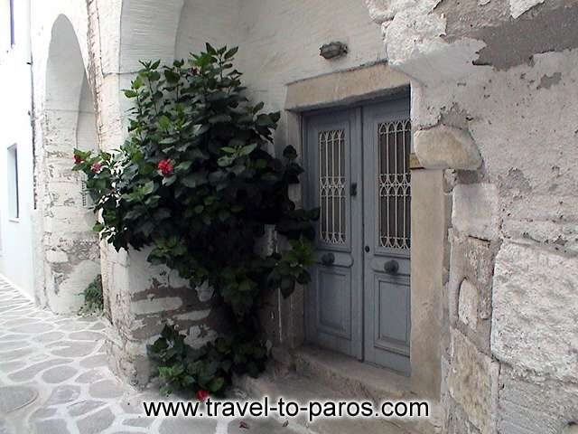 PAROS - Walking through the alleys of the villages you will admire the local architecture.
