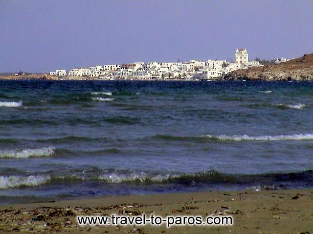 NAOUSSA PAROS - The beautiful town of Naoussa as seems from far away.