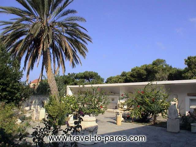 ARCHAEOLOGICAL MUSEUM OF PAROS - � part of discoveries  are exposed in the grounds of the archaeological museum reason of limited space.