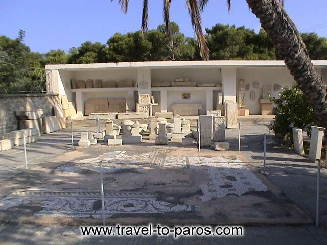 ARCHAEOLOGICAL MUSEUM OF PAROS - A view from the grounds of the museum that entertain important antiquities.