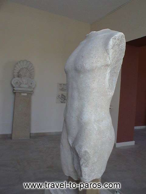 ARCHAEOLOGICAL MUSEUM OF PAROS - The most of the ancient statues that have been manufactured by the parian marble.