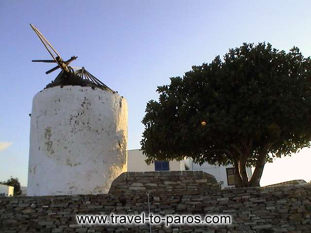 PARIKIA PAROS - A pisturesque windmill that we meet in one from the neighborhoods of Parikia.