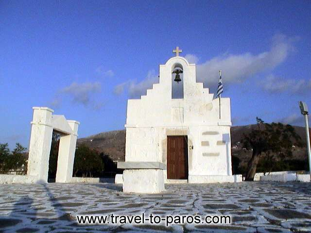 PARIKIA PAROS - White and blue. The colours that characterize the islands of Cyclades.
